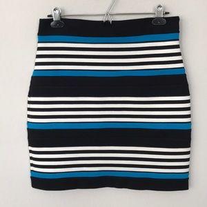 EUC Express Striped Stretch Pencil/Bodycon Skirt